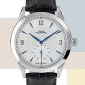 La perfezione dell'orologio classico racchiusa nel nuovo Capital Meccanico con movimento Eta Peseux 7001. #novità #limitedition #watchcollector #watchmania #mechanicalwatch #watchlover
